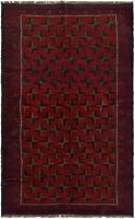 """Hand-knotted Carpet 3'6"""" x 6'4"""" Traditional Vintage Wool Rug"""