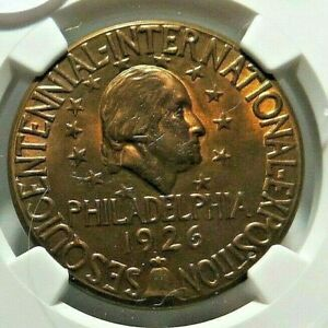 3 TIED FOR FINEST ! - US - SESQUICENTENNIAL - HK - 451 - NGC MS - 66 !  - NR