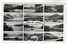 Twelve Lakes - Multiview Real Photo Postcard 1957 Cumbria