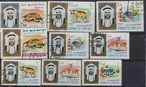 Umm Al Quwain, 1964, Marine Life and Wild Animals, CTO stamps
