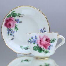 Meissen: Mokkatasse Rose und Vergissmeinnicht, Espressotasse, Blume, flowers cup