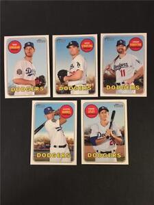 2018 Topps Heritage Los Angeles Dodgers High Number Base Team Set 5 Cards