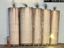"""O Scale Scratch Built """"The 5 Tanks"""" w/ LED Oil Farm, Industrial Flat, MTH Lionel"""