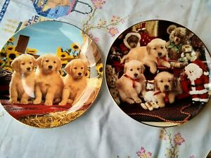 Franklin Mint Puppies collector plates