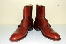 New Handmade Mens 4 Buckles Real Leather Boots, Men dessert Boots, ankle boots