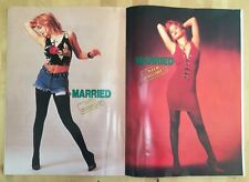 1987 Married with Children Christina Applegate Poster Book Kelly Bundy Al Photo