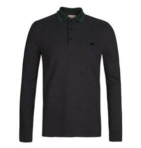 Burberry London shirt Anderton Polo charcole jade long sleeve S M