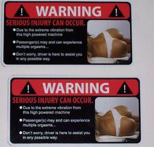 2 Sexy Vibration Warning Decal #2 Sticker Yamaha Commander Spyder Renegade UTV
