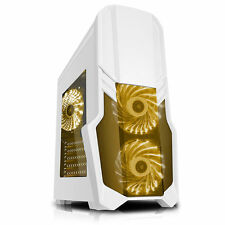 CIT G forza BIANCO RGB Edition Mid Tower Gaming PC Case USB 3.0 2x 12cm LED Fan