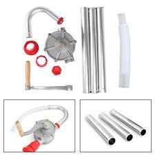 Hand Crank Aluminum Rotary Gas Oil Fuel Manual Pump 10 Gpm Self Priming Dispens