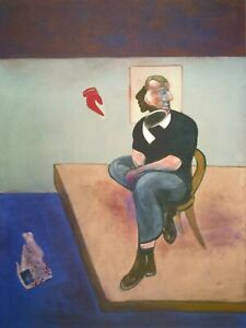 Francis Bacon, Study for Self-Portrait 1981, Hand Signed Lithograph