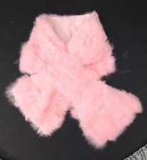 Bebé Rosa Real Piel cuello bufanda de piel de conejo genuina forro de satén 92cm X 16cm