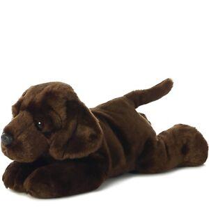 "TheMogan Chocolate Labrador Bean Filled Dog Puppy Plush Stuffed Animal Toy 12"""