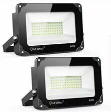 Onforu 60W IP66 Waterproof LED Flood Light, 5000K Daylight  Assorted Colors