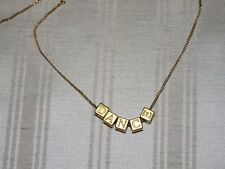DANCE Statement Disco Kette Gold Würfel Blogger Shabby Vintage Maison Scotch