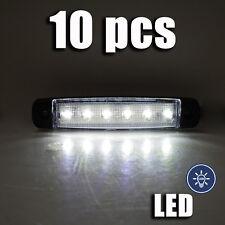 blanc LED feu de position 12vx 10 pièces lampe CAMION BUS VAN CARAVANE