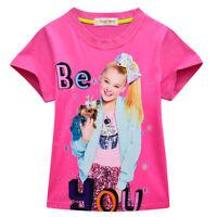 Jojo siwa Kids Girls JoJo Siwa T- Shirts Casual Tops Clothes Cotton Shirts Kids