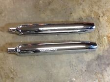 96 up Harley Davidson OEM Chrome Exhausts Mufflers 65538-95A pair flt fltr flhr
