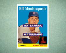 Bill Monbouquette Boston Red Sox 1958 Style Custom Art Card
