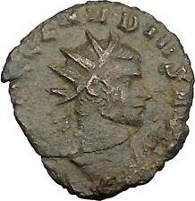 Claudius II Gothicus 268AD Ancient Roman Coin Ares Mars War God Cult   i39364