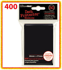 400 Ultra Pro BLACK DECK PROTECTOR Card Sleeves Standard MTG trading pokemon