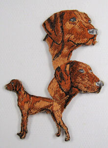 Viszla dog heat seal embroidered badge
