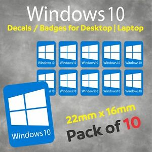 Windows 10 Self Adhesive Badge | Stickers | Decals for Laptops and Desktops