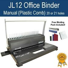 New Home Office Plastic Comb Binder / Binding Machine -White (Free Starter Pack)