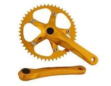BICYCLE GOLD CRANK SET 48T X 170MM CRUISER LOWRIDER BMX MTB ROAD FIXIE CYCLING
