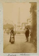 Allemagne, Mayence, Mainz, Neuer Brunnen, l'obélisque  vintage albumen prin