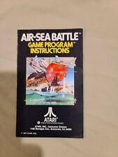 Air-Sea Battle Atari 2600 Instruction Manual Booklet NO GAME FREE SHIPPING
