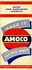 1948 ME/NH/VT Road Map from the American Oil Co. (AMOCO)