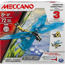 Meccano-Erector 3 Model Set, Insects Building Learning 72 pcs 8+ Spin Masters