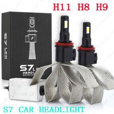 2X H11 H8 H9 S7 11000LM 110W LED Car Headlight Fog Driving Lamps 6000K Kit Bulbs