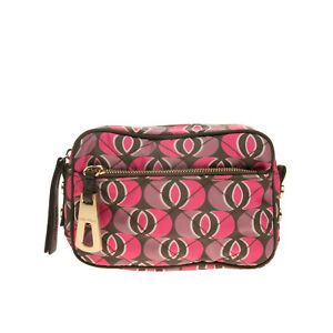 RRP €185 MALIPARMI Clutch Bag Pouch Quilted Patterned Zip Closure