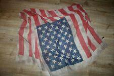 NEU❤️ XL Tuch Viereck Schal dunkel blau weiß rot USA Flag Antik Vintage Design❤️