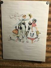 """Norman Rockwell ~ """"Traveling Salesman""""  18x24 Limited Lithograph #42/300 ~ 1962"""