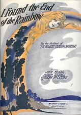Sheet Music I Found The End Of The Rainbow 1918