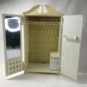 Vintage 1963 Barbie wardrobe Susy Goose armoire furniture clothes closet Mattel