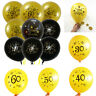 """10PCS 12"""" Number Ages Latex Balloon 30 40 50 60th Happy Birthday Party Decor New"""