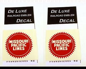 DeLuxe By Virnex Decals Red and White Missouri Pacific Herald D-213 -Two Decals-