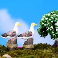 Sea Bird Seagull Stand Stump Miniature Fairy Garden Home DIY Decoration Fad
