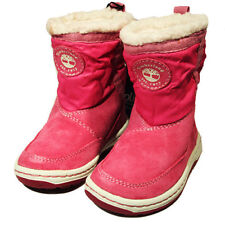 Timberland Winterfest Boot Girls Toddler Leather Kids Pink MID Boots 9085R
