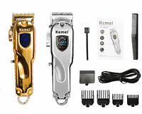 KEMEI PROFESSIONAL RECHARGEABLE ELECTRIC CORDLESS TRIMMER HAIR CLIPPER FOR MEN