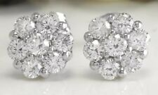 1.00Carat Natural VS2 Diamonds 14K Solid White Gold Stud Earrings