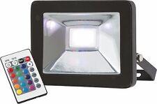 Knightsbridge IP65 20W RGB LED Die-Cast Aluminium Floodlight with Remote Control