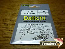 25 x DAIICHI 1170 #16 STANDARD DRY FLY HOOK LOW PROFILE BARB FLY TYING HOOKS