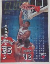 1997/98 Scottie Pippen Chicago Bulls Topps Clutch Time Insert Card #CT20 NM Cond