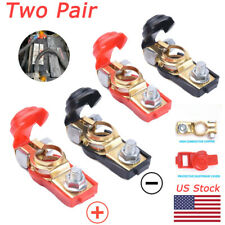 2 Pair Car Battery Terminal Connector Post Positive+Negative Poles Heavy Duty
