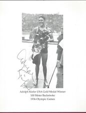 Adolph Kiefer, Olympic Gold Medalist, Signed Photo, COA, UACC RD 036